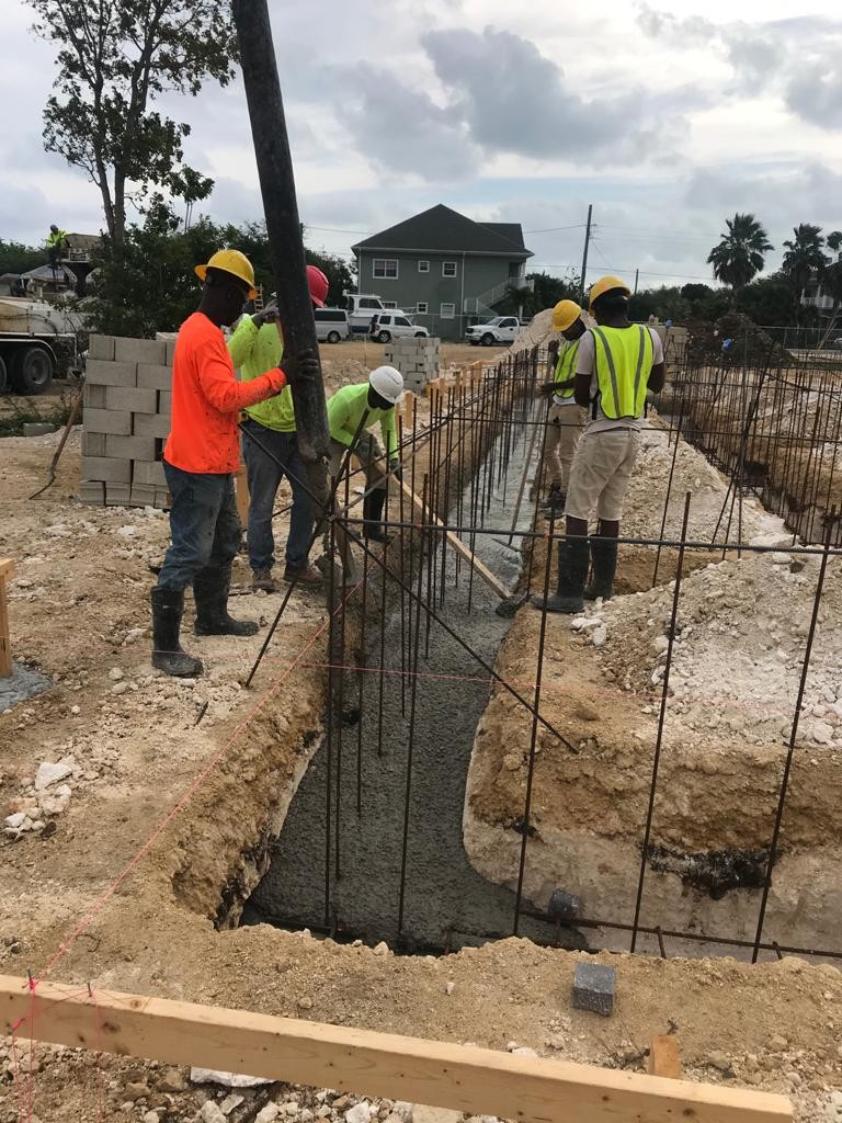 Site update: Pouring of the concrete for the building footing 3 of 3