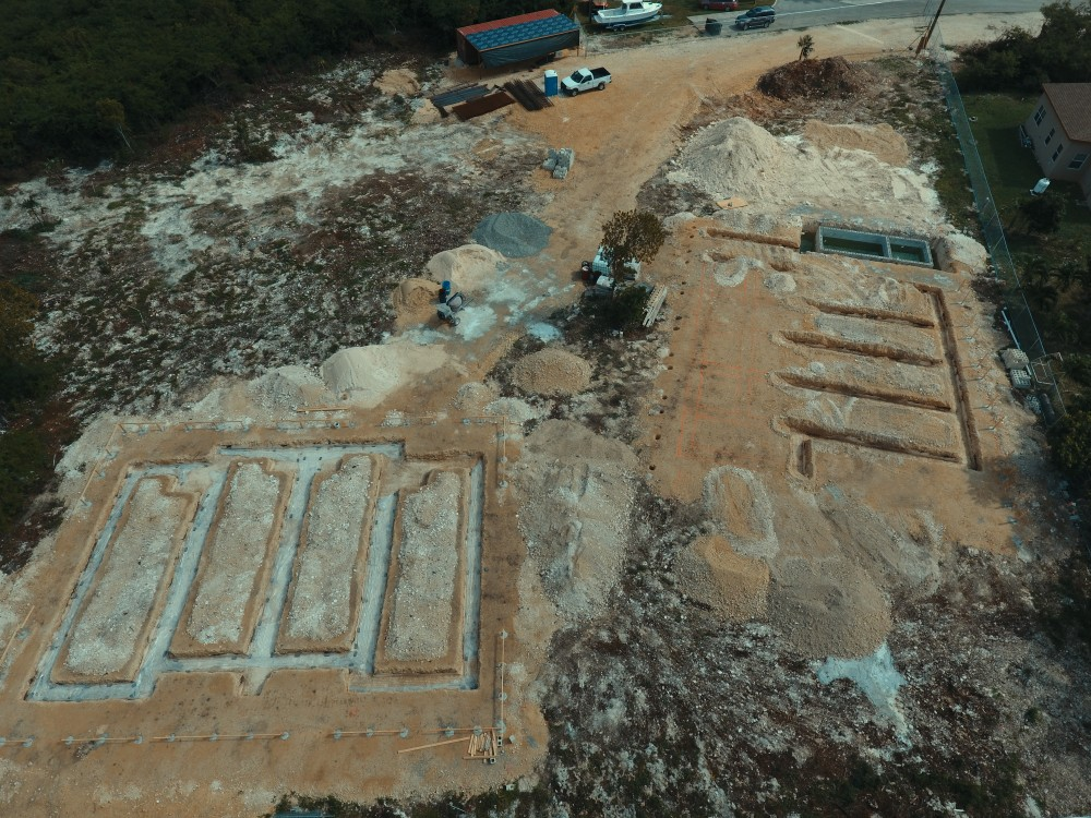 Dec 2020: Foundation Trench - View from Above